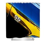 Chevrolet Chevelle Ss 396 Side Emblem Shower Curtain