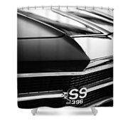 Chevrolet Chevelle Ss 398 Grille Emblem Shower Curtain