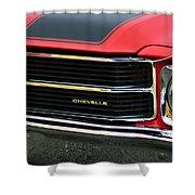 Chevrolet Chevelle Ss Grille Emblem Shower Curtain