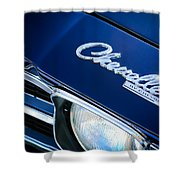 Chevrolet Chevelle Ss Hood Emblem Shower Curtain