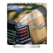Chevrolet Chevelle Ss Taillight Emblems Shower Curtain