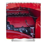Chevrolet Corvette Engine Shower Curtain