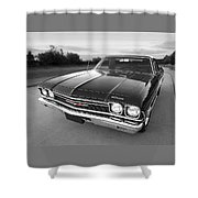 Chevrolet El Camino In Black And White Shower Curtain