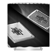 Chevrolet Emblem - 131bw Shower Curtain