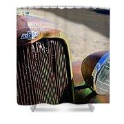 Chevrolet Grille Emblem - Head Light Shower Curtain