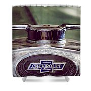 Chevrolet Hood Ornament Shower Curtain