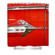 Chevrolet Impala Classic In Red Shower Curtain