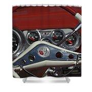 Chevrolet Impala Steering Wheel Shower Curtain