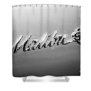 Chevrolet Malibu Ss Emblem Black And White Picture Shower Curtain