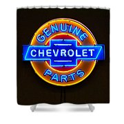Chevrolet Neon Sign Shower Curtain