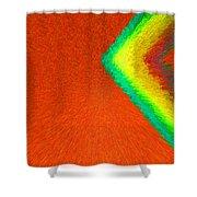 Chevron Rainbow Orange C2014 Shower Curtain