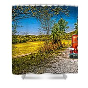 Chevy 34 Sweet Country Road Shower Curtain