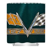 Chevy 427 Turbo Jet Shower Curtain
