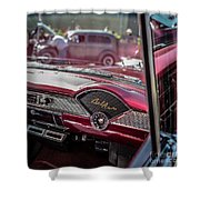 Chevy Bel Air Dash Shower Curtain