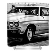 Chevy Chevrolet Chevelle Ss Burning Rubber Shower Curtain