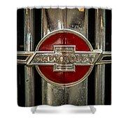 Chevy Emblem Shower Curtain by Paul Freidlund