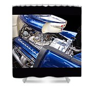 Chevy Hot Rod Engine Shower Curtain