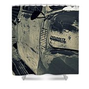 Arroyo Seco Chevy In Silver Shower Curtain