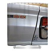 Chevy Nova Ss Emblem And Tail Light Shower Curtain