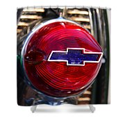 Chevy Red White And Blue Shower Curtain