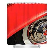 1955 Chevy Rim Shower Curtain