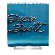 Chevy Super Sport II Emblem Shower Curtain