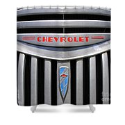 Chevy Truck Grill Shower Curtain