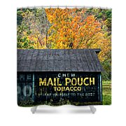 Chew Mail Pouch 2 Shower Curtain