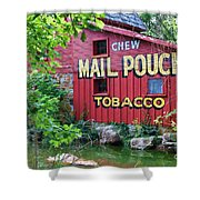 Chew Mail Pouch Tobacco  Shower Curtain