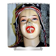 Chewing Gum Smile Shower Curtain