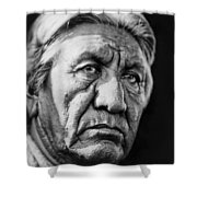 Cheyenne Indian Man Circa 1927 Shower Curtain