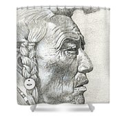 Cheyenne Medicine Man Shower Curtain