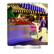 Chez Nino At Marche Jean Talon Montreal A Taste Of Culinary Culture  Food Art Scenes Carole Spandau  Shower Curtain