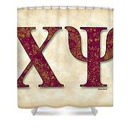Chi Psi - Parchment Shower Curtain