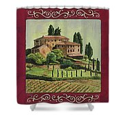 Chianti And Friends Collage 1 Shower Curtain by Debbie DeWitt