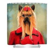 Chic Yorkshire Terrier Shower Curtain