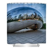 Chicago - Cloudgate Reflections Shower Curtain