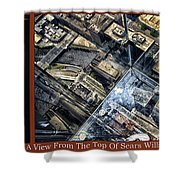 Chicago A View From The Top Of Sears Willis Tower Hdr Triptych 3 Panel Shower Curtain