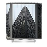 Chicago Abstract Before And After John Hancock Sw Facades Triptych 3 Panel Shower Curtain