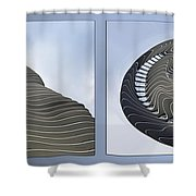 Chicago Abstract Before And After Radisson Blu Hotel 2 Panel Shower Curtain
