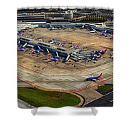 Chicago Airplanes 03 Shower Curtain
