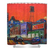 Chicago Avenue Looking West Shower Curtain
