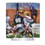 Chicago Bears P Patrick O'donnell Training Camp 2014 Photo Art 02 Shower Curtain