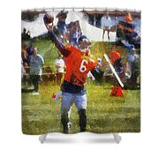 Chicago Bears Qb Jay Cutler Training Camp 2014 04 Photo Art 02 Shower Curtain