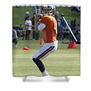 Chicago Bears Qb Jimmy Clausen Training Camp 2014 03 Shower Curtain