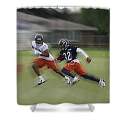Chicago Bears Rb Michael Ford Moving The Ball Training Camp 2014 Shower Curtain