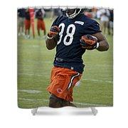 Chicago Bears Rb Shaun Draughn Training Camp 2014 01 Shower Curtain