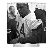Chicago Bears S Adrian Wilson Training Camp 2014 Bw Shower Curtain
