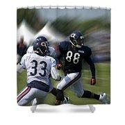 Chicago Bears Te Dante Rosario Training Camp 2014 03 Shower Curtain