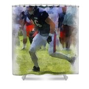 Chicago Bears Te Zach Miller Training Camp 2014 Pa 01 Shower Curtain